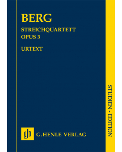 Berg, Alban: Streichquartett / String Quartet, op. 3 (Study Score)