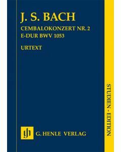 Bach, J. S.: Cembalokonzert Nr. 2 E-dur BWV 1053 (Study Score)