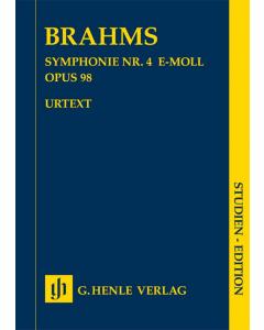 Brahms, Johannes: Symphonie Nr. 4 e-moll / Symphony no. 4 e minor op. 98 (Study Score)