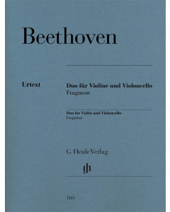 Beethoven: Duo for Violin and Violoncello, Fragment