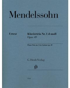 Mendelssohn: Klaviertrio Nr. 1 d-moll / Piano Trio no. 1 d minor op. 49 (SET OF PARTS)