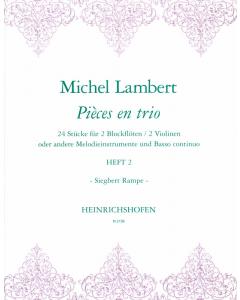 Lambert, Michel: Pièces en trio (Vol. 2)
