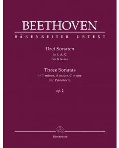 Beethoven: Drei Sonaten für Klavier / Three Sonatas for Piano (F minor, A major, C major op. 2)