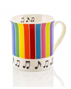 Kaffekrus med noder og farvede striber
