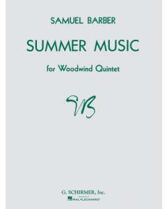 Barber, Samuel: Summer Music, op. 31 for Woodwind Quintet (Set of Parts and Score)