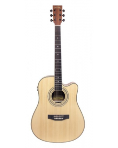 Santana LA100 Western guitar - Cutaway, EQ, Natur