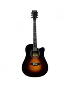 Santana LA100 Western guitar - Cutaway, EQ, Sunburst