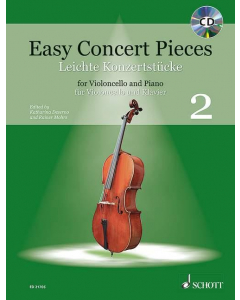 Easy Concert Pieces for Cello and Piano / Leichte Konzertstücke für Cello und Klavier - Vol. 2 (incl. CD)