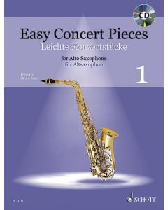 Easy Concert Pieces for Alto Saxophone and Piano / Leichte Konzertstücke für Altsaxophon und Klavier - Vol. 1 (incl. CD)