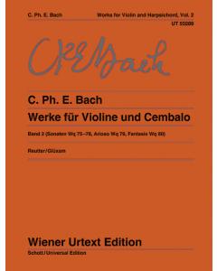 Bach, C. Ph. E: Werke für Violine und Cembalo / Works for Violin and Harpsichord (Vol. 2)