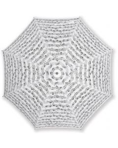 Paraply 86 cm (Hvid med Bach nodemotiv)