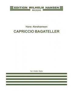 Abrahamsen, Hans: Capriccio Bagateller (Violin Solo)
