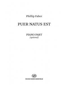 Faber, Phillip: Puer Natus Est (SATB, Piano) PIANO PART