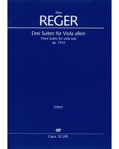 Reger Three Suites for viola solo Carus