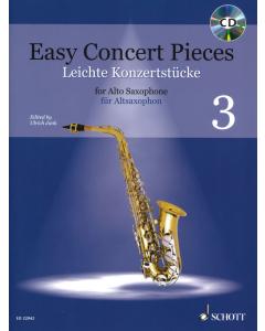 Easy Concert Pieces for Alto Saxophoneand Piano / Leichte Konzertstücke für Altsaxophon und Klavier - Vol. 3 (incl. CD)