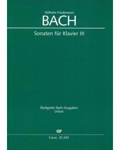Bach, Wilhelm Friedemann: Sonaten für Klavier (Vol. III)