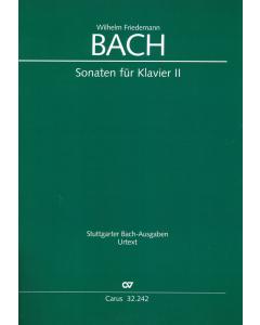 Bach, Wilhelm Friedemann: Sonaten für Klavier (Vol. II)