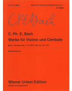 Bach, C. Ph. E: Werke für Violine und Cembalo / Works for Violin and Harpsichord (Vol. 1)