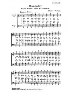 Winkel, Erling: Mandalay (TTBB a cappella)