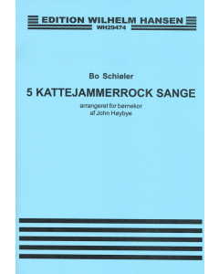 5 Kattejammerrock sange - arr. John Høybye for børnekor