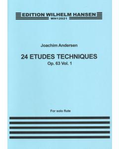 Andersen, Joachim: 24 Etudes Techniques, op. 63 - Book 1 (Solo Flute)