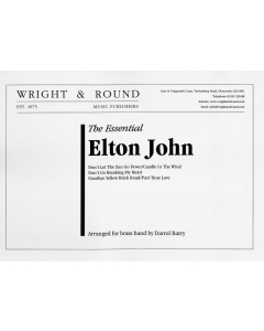 The Essential Elton John - arr. Darrol Barry for Brass Band (Score and Parts)