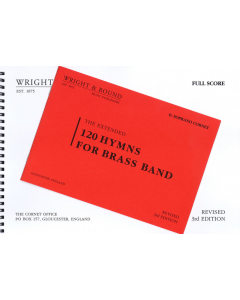 120 Hymns for Brass Band (Complete Set with Full Score)