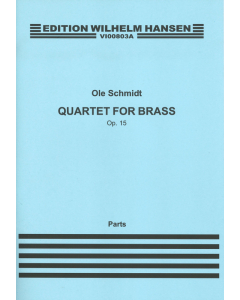 Schmidt, Ole: Kvartet for messing / Quartett for brass, op. 15 (Set of parts)
