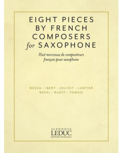 Eight Pieces by French Composers (Alto Saxophone and Piano)