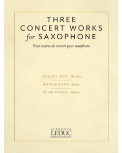 Three Concert Works for Saxophone (Alto Saxophone and Piano)