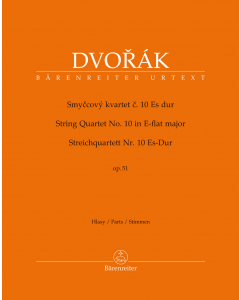 Dvorák, Antonín: String Quartet no. 10 in E-flat major, op. 51 (Set of Parts)