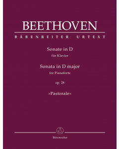 "Beethoven, Ludwig van: Sonate in D für Klavier / Sonata for Pianoforte in D major, op. 28 ""Pastorale"""