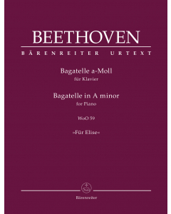 "Beethoven, Ludwig van: Bagatelle A minor: ""Für Elise"" (Piano)"