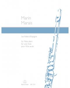 Marais, Marin: Les Folies d'Espagne (for Solo Flute)