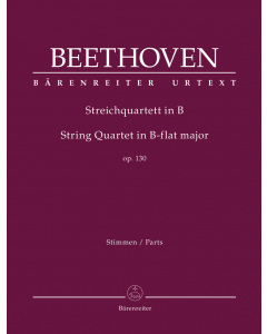 Beethoven: Streichquartett in B / String Quartet in B-flat major, op. 130 (Set of Parts)