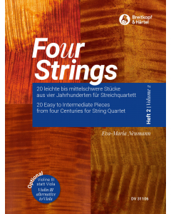 Fo(u)r Strings - Easy to Intermediate Pieces for String Quartet (Vol. 2)