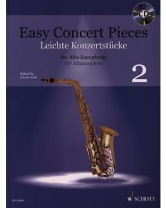 Easy Concert Pieces for Alto Saxophone and Piano / Leichte Konzertstücke für Altsaxophon und Klavier - Vol. 2 (incl. CD)