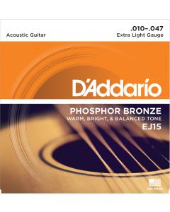 D'addario EJ15 - Extra Light Guitarstrenge til Akustisk Guitar (sæt)