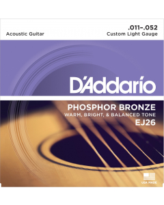 D'addario EJ26 - Custom Light Guitarstrenge til Akustisk Guitar (sæt)