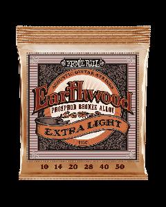 Ernie Ball Earthwood Extra Light Phosphor Bronze 10-50 - Strenge til Akustisk Guitar (sæt)