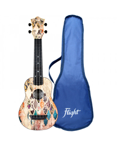 Flight Travel Soprano Ukulele - TUS40 Granada (incl. Bag)
