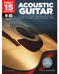 First 15 Lessons - Acoustic Guitar (incl. Audio & Video Access)
