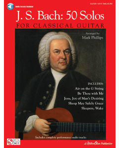 Bach, J.S.: 50 Solos for Classical Guitar (incl. Online Audio)
