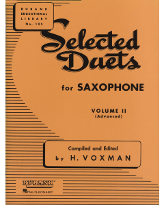 Selected Duets for Saxophone - Vol. 2 (Advanced)