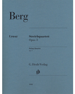 Berg, Alban: Streichquartett / String Quartet, op. 3 (Set of Parts)