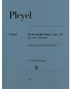 "Pleyel, Ignaz J.: Six easy Duets for two Violins ""op. 48"""