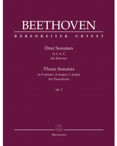 Beethoven: Drei Sonaten für Klavier / Three Sonatas for Piano (F minor, A major, C major op. 2)