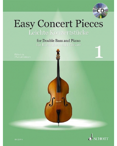 Easy Concert Pieces for Double Bass and Piano / Leichte Konzertstücke für Kontrabass und Klavier - Vol. 1 (incl. CD)