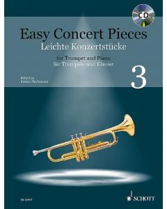 Easy Concert Pieces for Trumpet and Piano / Leichte Konzertstücke für Trompete und Klavier - Vol. 3 (incl. CD)