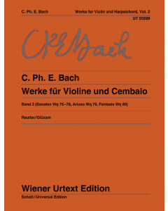 Bach, C. Ph. E: Werke für Violine und Cembalo / Works for Violin and Harpsichord (Vol. 2)